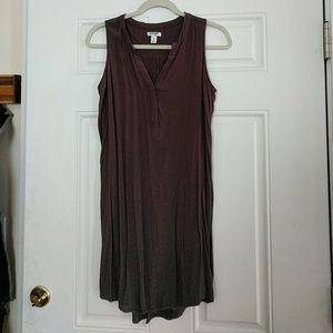 Gray light, sleeveless dress